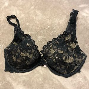 Sexy black lace Victoria's Secret bra